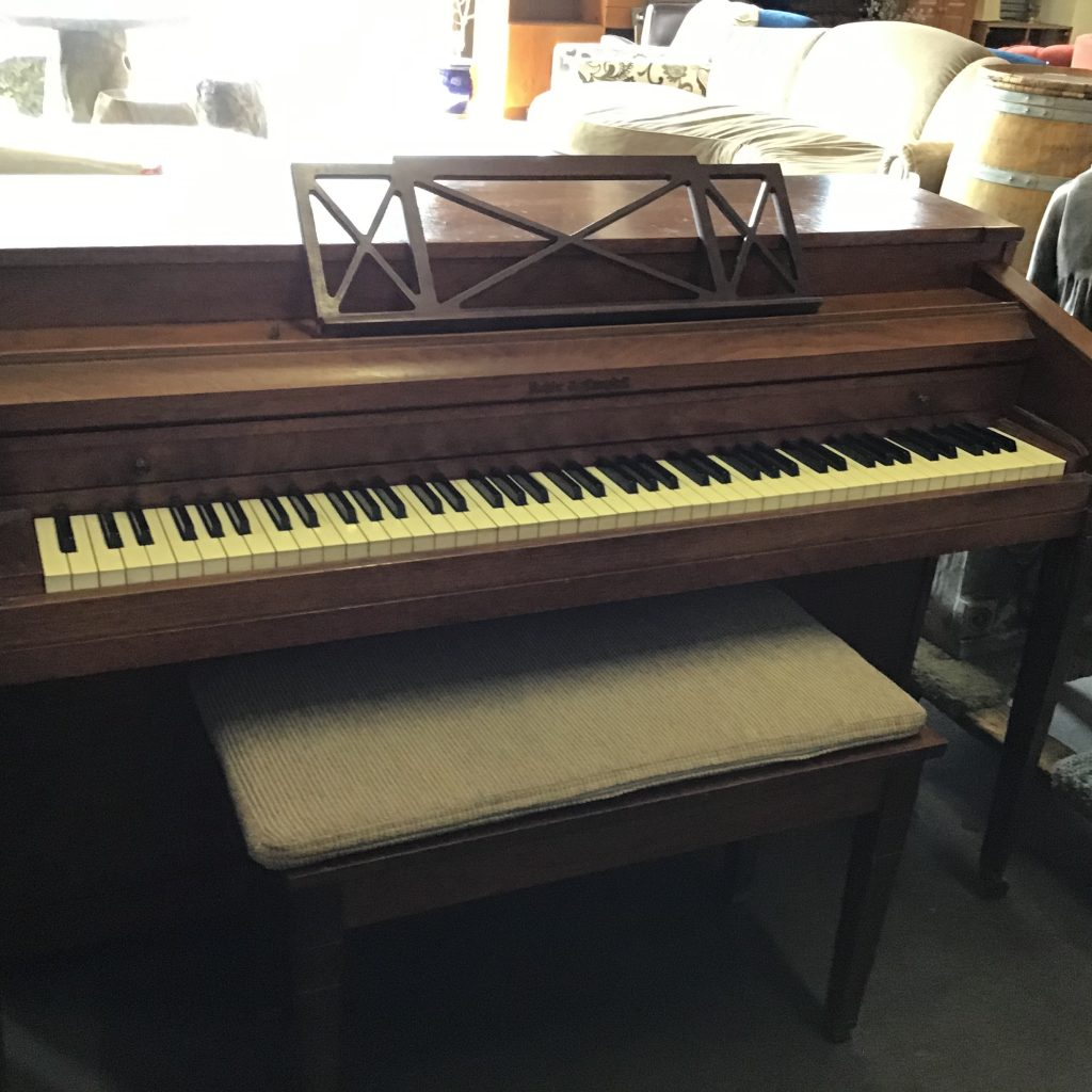 Piano spinet bench