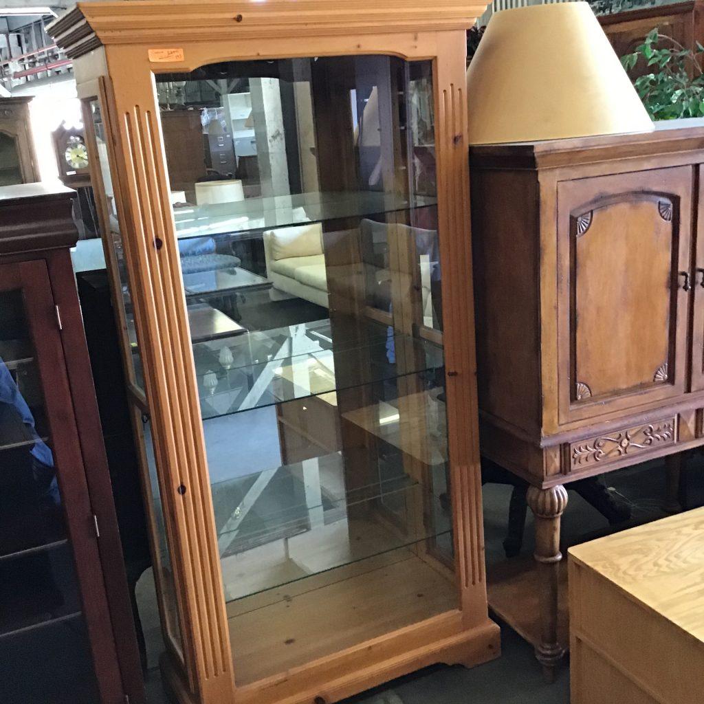 curio cabinet glass shelves