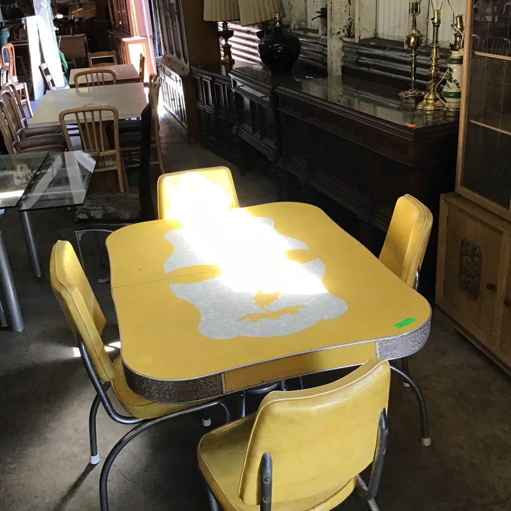 vintage, yellow, chrome,