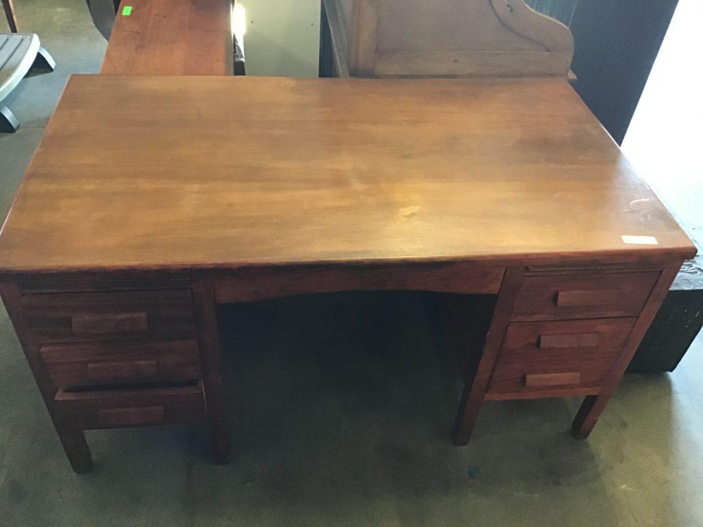 Oak, desk,