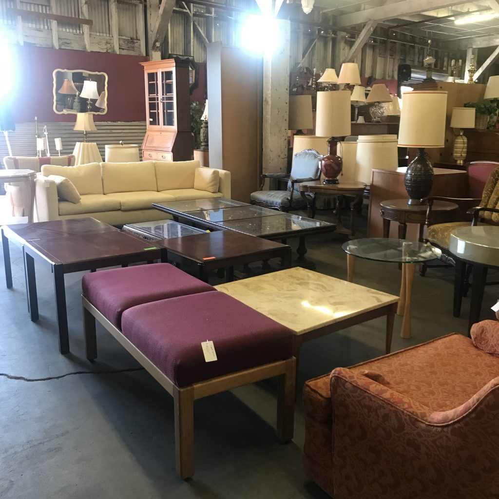 End tables, coffee tables, lamp. tables, bench, marble, glass