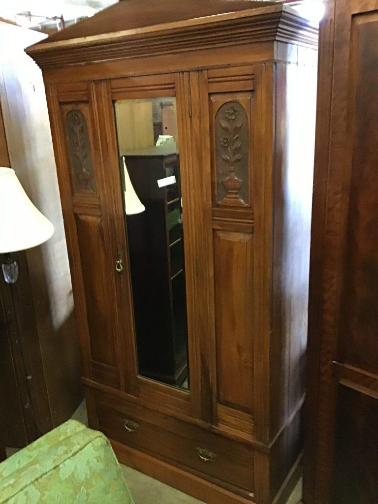 closet vintage storage mirrored