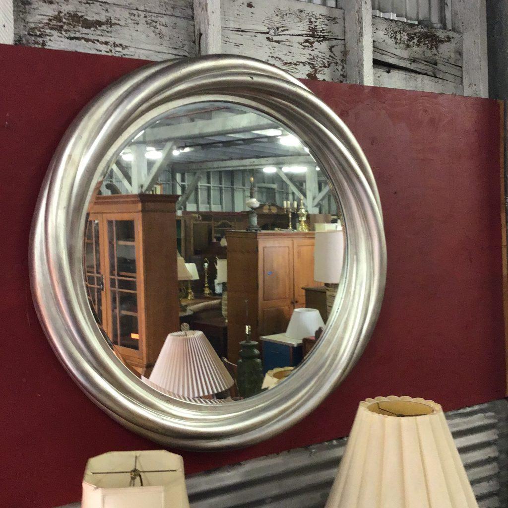 Mirror wall round silver